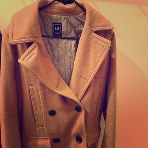Wool blend long pea coat from Gap - size M tall